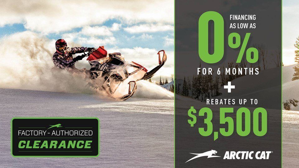 Arctic Cat Factory Authorized Clearance on 2013-2017 Snowmobiles